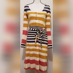 Anthropologie Saturday/Sunday Striped Dress Belted